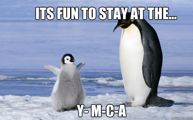 Its fun to stay at the... Y- M-C-A