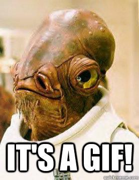 It's a gif! -  It's a gif!  Admiral Akbar