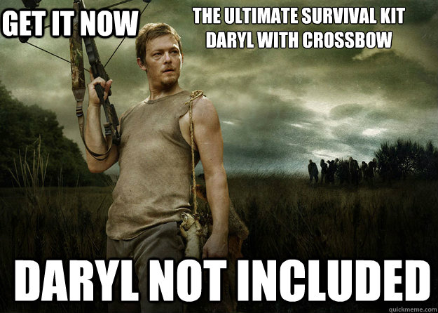 The ultimate survival kit Daryl with Crossbow  Daryl not included get it now - The ultimate survival kit Daryl with Crossbow  Daryl not included get it now  Daryl Dixon
