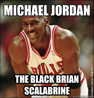 MICHAEL JORDAN THE BLACK BRIAN SCALABRINE  Michael Jordan better than kobe