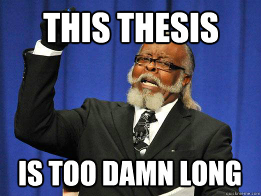 This thesis  is too damn long
