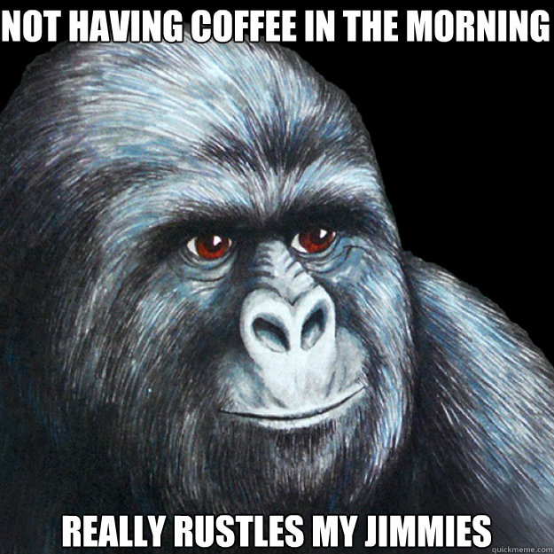 not having coffee in the morning really rustles my jimmies