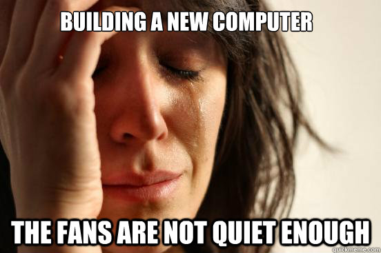 Building a new computer The fans are not quiet enough - Building a new computer The fans are not quiet enough  First World Problems