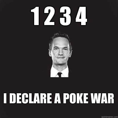 1 2 3 4 i declare a poke war