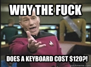 why the fuck does a keyboard cost $120?! - why the fuck does a keyboard cost $120?!  Annoyed Picard