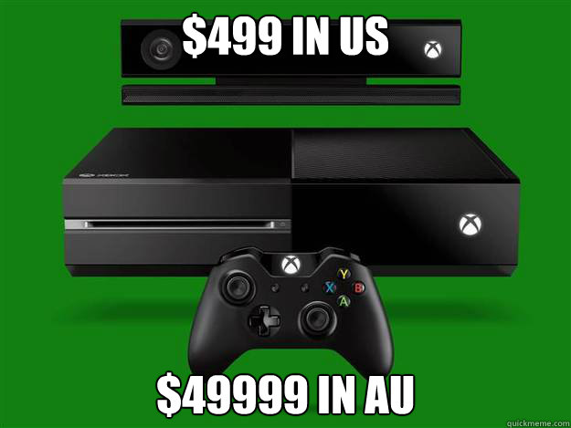 $499 in US $49999 In AU