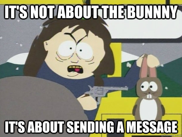 It's not about the bunnny it's about sending a message - It's not about the bunnny it's about sending a message  Misc