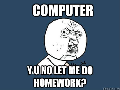 Do homework computer