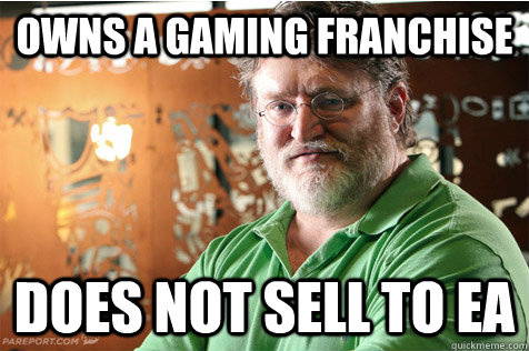 Owns a gaming franchise does not sell to EA