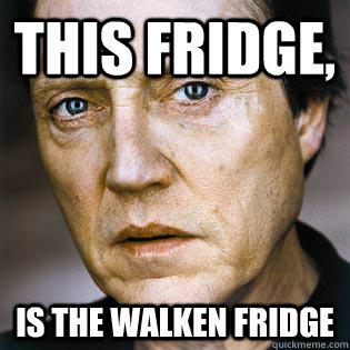 This Fridge  Is the Walken Christopher Walken Funny Meme