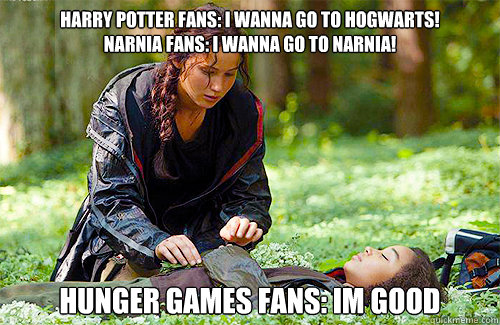 Hogwarts narnia fans i wanna go to narnia hunger games fans im good