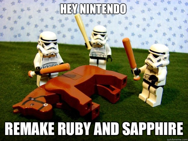 Hey Nintendo Remake Ruby and Sapphire - Hey Nintendo Remake Ruby and Sapphire  Dead Horse