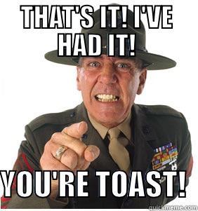 Afbeeldingsresultaat voor you're toast meme