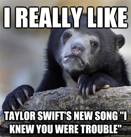 I really like Taylor Swift's new song