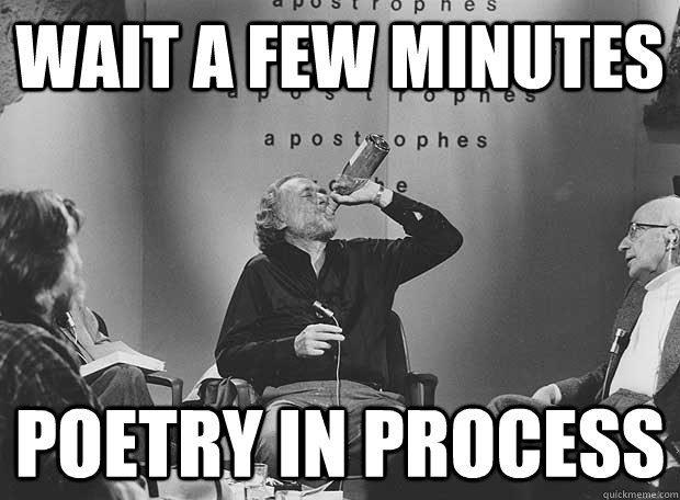 wait a few minutes poetry in process