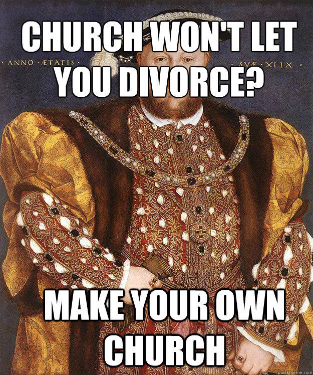 Church won't let you divorce? Make your own church