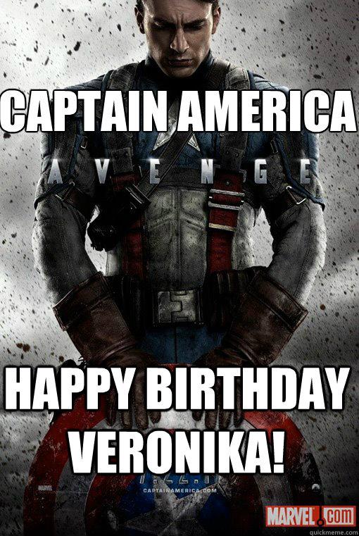Captain America happy birthday veronika!
