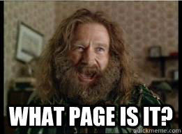 What page is it? -  What page is it?  What year is it