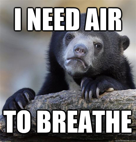 I NEED AIR TO BREATHE - I NEED AIR TO BREATHE  Confession Bear