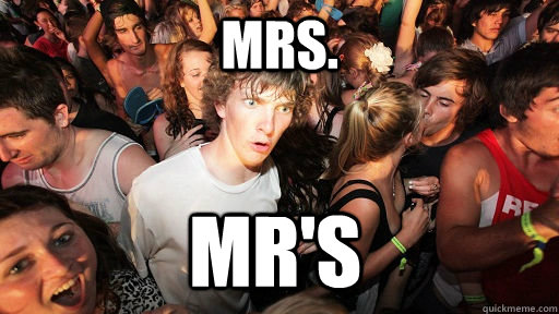 Mrs. Mr's - Mrs. Mr's  Sudden Clarity Clarence