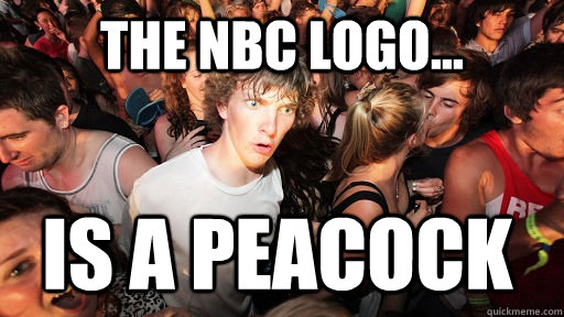 the nbc logo... is a peacock - the nbc logo... is a peacock  Misc