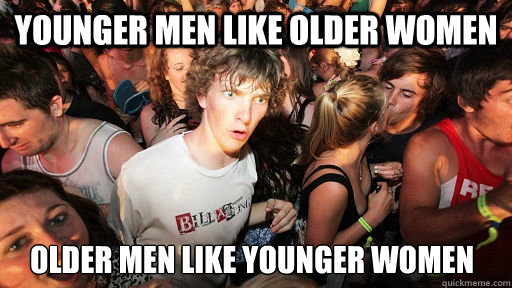 Women dating older men meme
