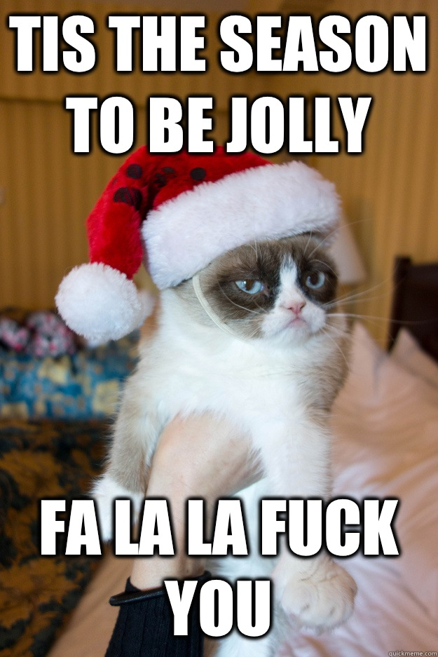 Tis the season to be jolly Fa la la fuck you  - Tis the season to be jolly Fa la la fuck you   Grumpy xmas