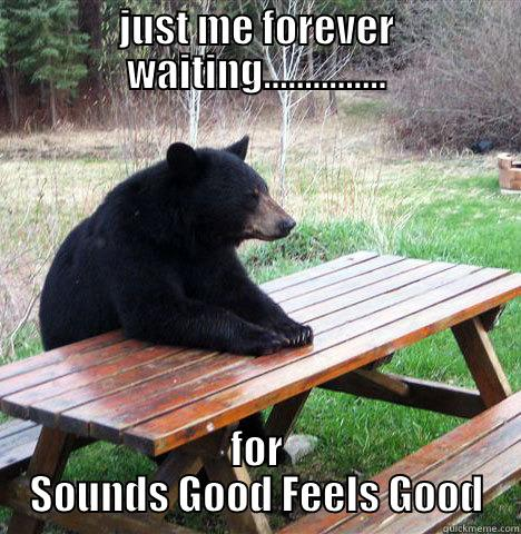 JUST ME FOREVER WAITING............... FOR SOUNDS GOOD FEELS GOOD waiting bear