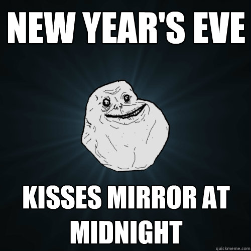 New Year's Eve Kisses Mirror at Midnight - New Year's Eve Kisses Mirror at Midnight  Forever Alone