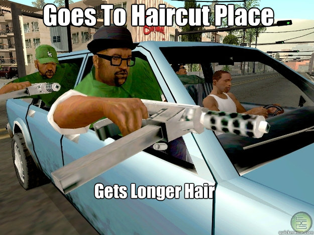Goes To Haircut Place Gets Longer Hair - Goes To Haircut Place Gets Longer Hair  Gta San Andreas Logic