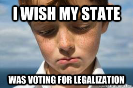 I wish my state was voting for legalization - I wish my state was voting for legalization  Disappointed Dan