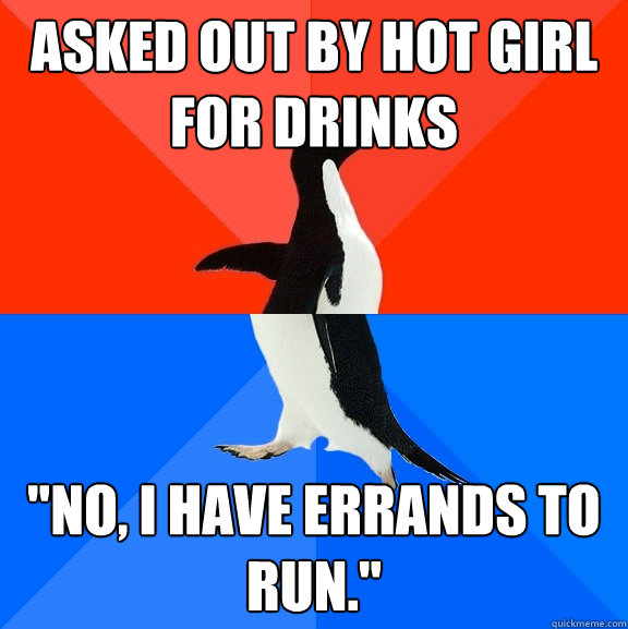 asked out by hot girl for drinks