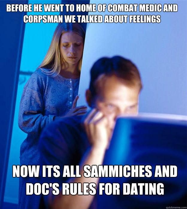 dating combat medic