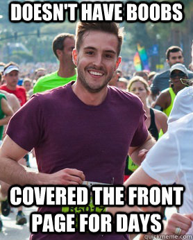 Doesn't have boobs covered the front page for days  - Doesn't have boobs covered the front page for days   Ridiculously photogenic guy