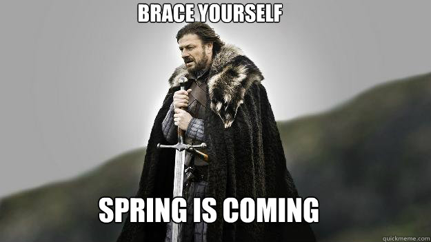 Spring Is Coming Brace Yourself Ned Stark Winter Is Coming Quickmeme