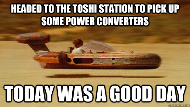 Headed to the toshi station to pick up some power converters today was a good day - Headed to the toshi station to pick up some power converters today was a good day  Misc
