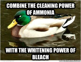 Combine the cleaning power of ammonia With the whitening power of Bleach - Combine the cleaning power of ammonia With the whitening power of Bleach  Misc