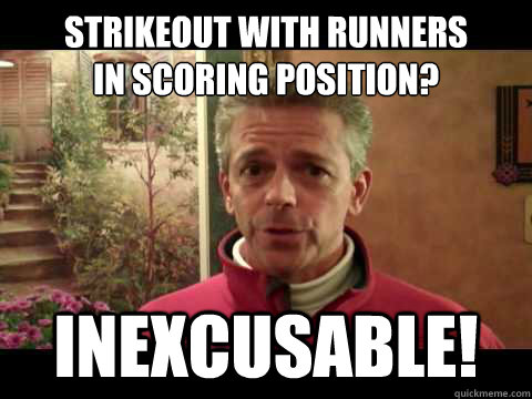 Strikeout With Runners IN SCORING POSITION? Inexcusable! - Strikeout With Runners IN SCORING POSITION? Inexcusable!  Terrible Thom