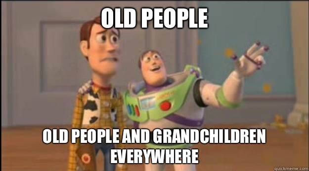 Old people Old people and grandchildren everywhere - Old people Old people and grandchildren everywhere  Misc