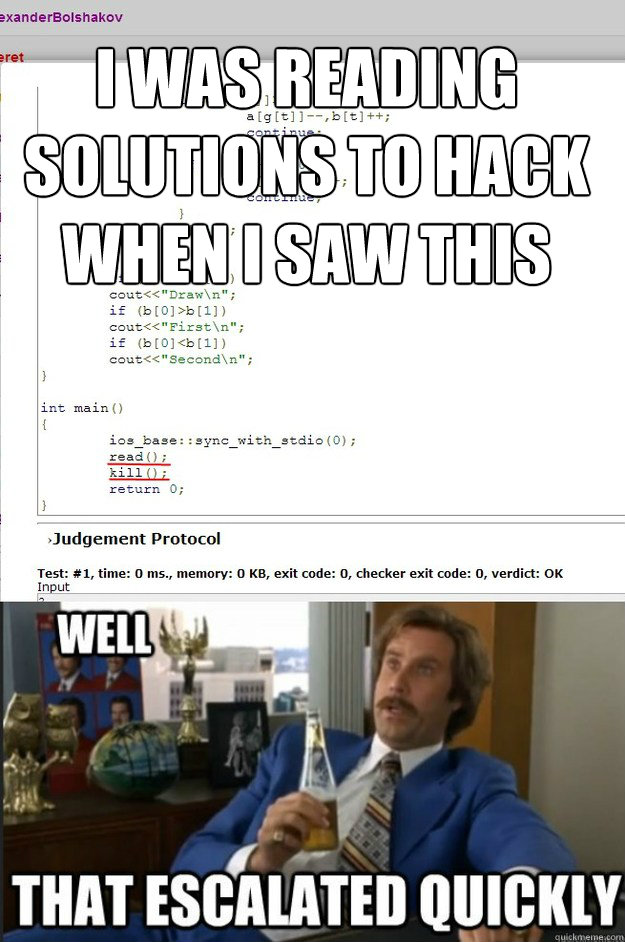 I Was Reading solutions to hack when i saw this - I Was Reading solutions to hack when i saw this  Misc
