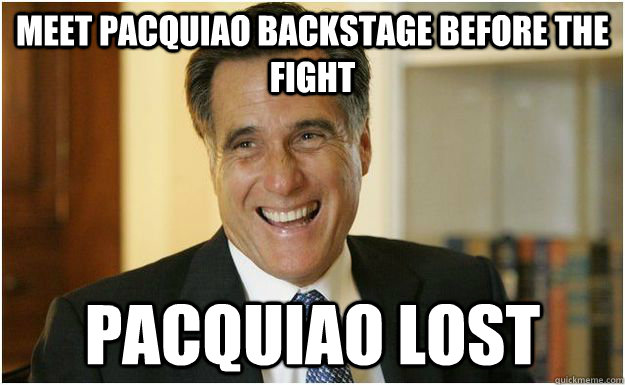 Meet pacquiao backstage before the fight Pacquiao lost - Meet pacquiao backstage before the fight Pacquiao lost  Mitt Romney