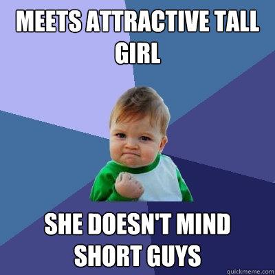 A tall girl dating a short guy meme