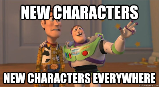 new characters new characters everywhere - new characters new characters everywhere  Toy Story Everywhere