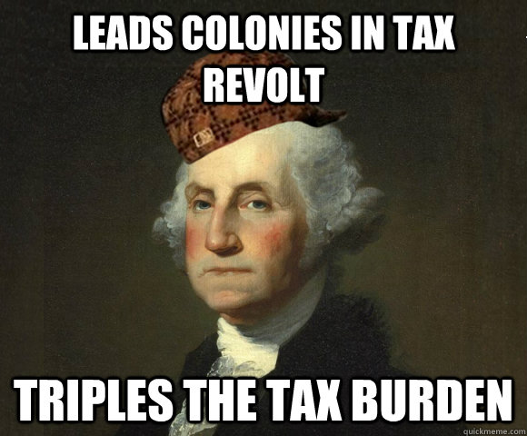 Leads colonies in tax revolt triples the tax burden