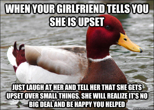 what to say to your girlfriend when she is sad