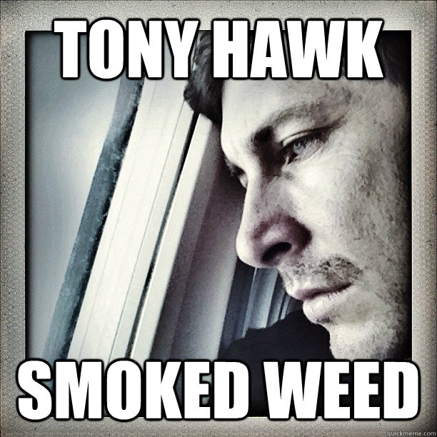 Tony Hawk Smoked weed