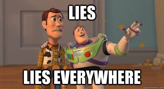 LIES lies everywhere - LIES lies everywhere  Toy Story Everywhere