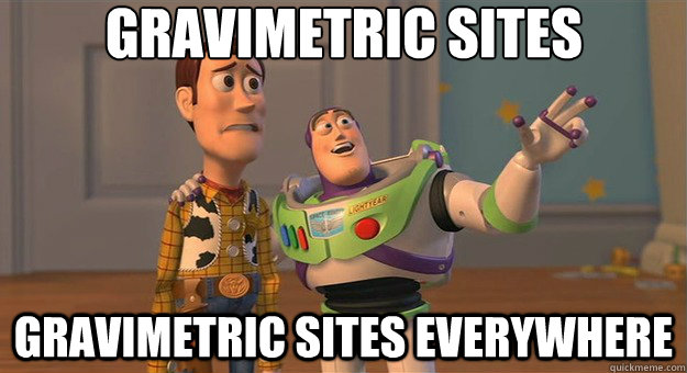 Gravimetric sites Gravimetric sites everywhere