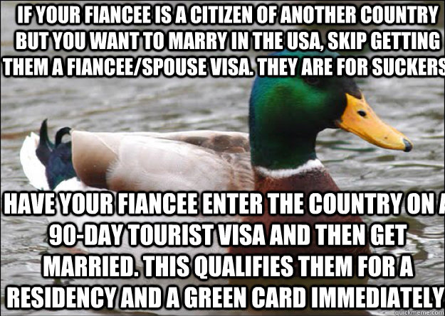 If your fiancee is a citizen of another country but you want to marry in the USA, skip getting them a fiancee/spouse visa. They are for suckers.  Have your fiancee enter the country on a 90-day tourist visa and then get married. This qualifies them for a