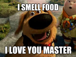 I SMELL FOOD I LOVE YOU MASTER